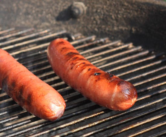 Grilled hotdogs