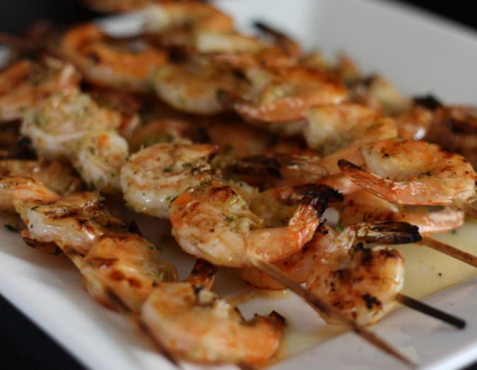 Grilled Shrimp in a Coconut Marinade