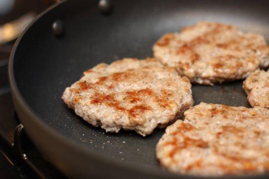 Homemade Sausage Patties from Leftover pork rib trimmings