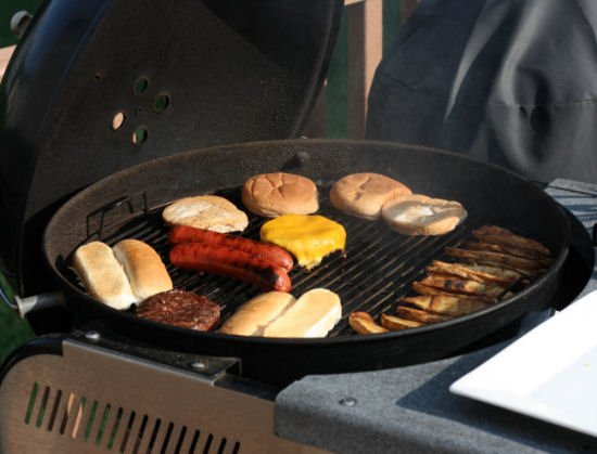 Typical cookout with Roseda beef hotdogs and hamburgers