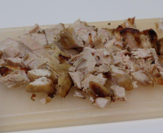 Shredded grilled chicken