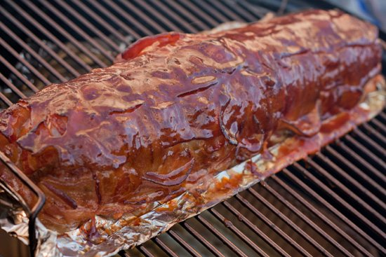 Smoking a BBQ Fatty - Bacon Explosion
