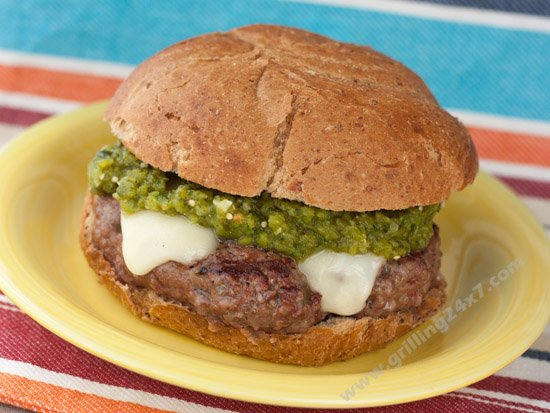 Green Chile Cheeseburger Recipe - Grilling24x7