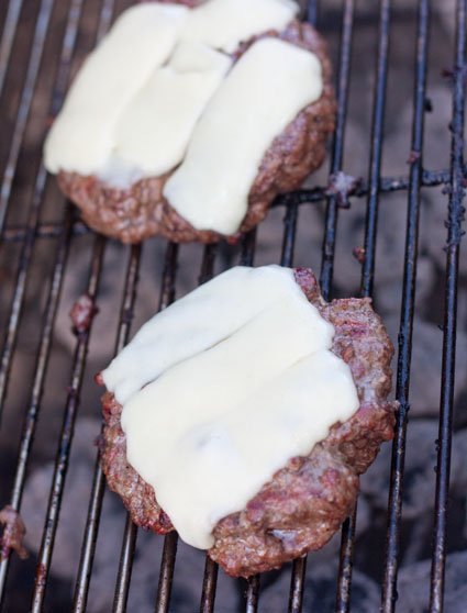 Juicy Burgers on the charcoal grill