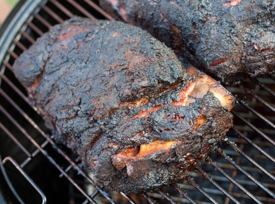 A loaded Weber Smokey Mountain BBQ Smoker - Grilling24x7