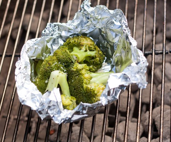 Grilled Broccoli in foil