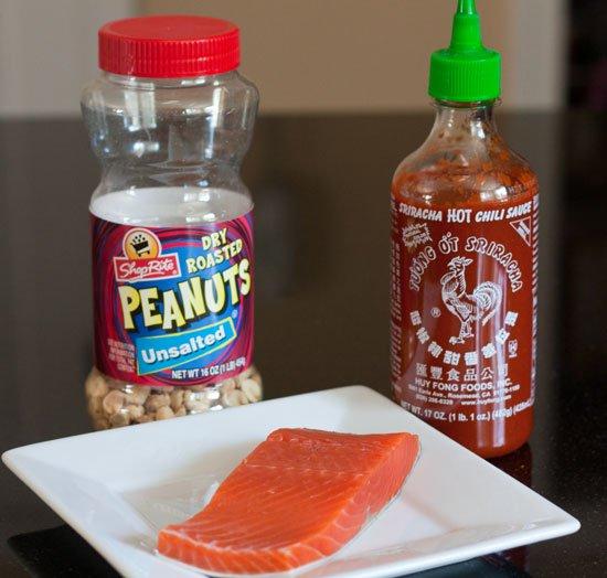 Grilled Peanut Crusted Sriracha Salmon - Grilling24x7