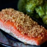 Grilled Peanut Crusted Sriracha Salmon