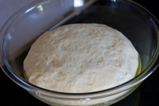 Rising hot dog bun dough