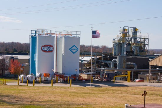 How is charcoal made?  Photos from the Kingsford charcoal plant tour