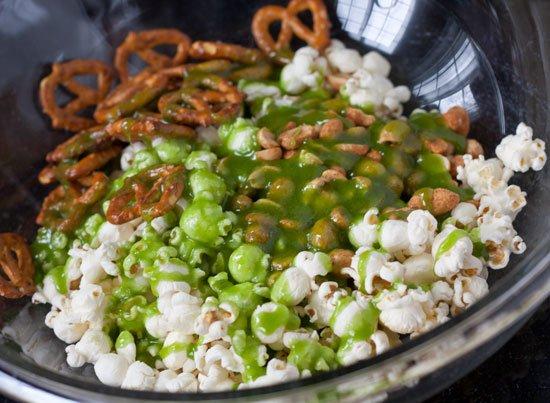 Sriracha Lime Crunch Mix Recipe - Tailgate snack mix