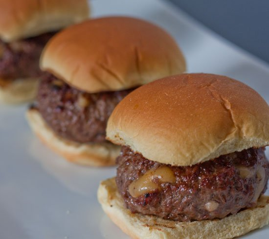 Bacon Cheddar Stuffed Cheeseburger Sliders - Grilling24x7
