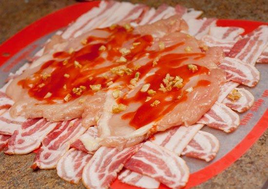 Buffalo Chicken Bacon Explosion Recipe
