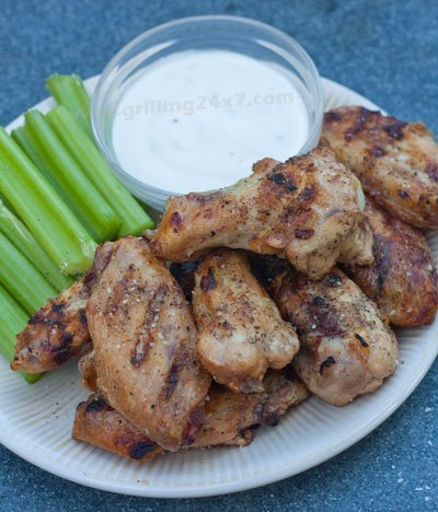 Salt and Pepper grilled chicken wings
