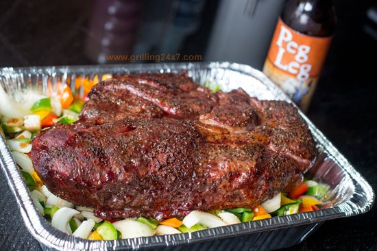 BBQ chuckie - pulled smoked BBQ chuck roast recipe