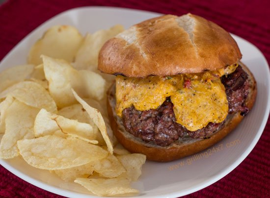 Melted pimento cheeseburger