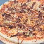 BBQ Pulled Pork Pizza Recipe with Sauteed Onions and BBQ Sauce