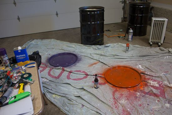 painting an ugly drum smoker