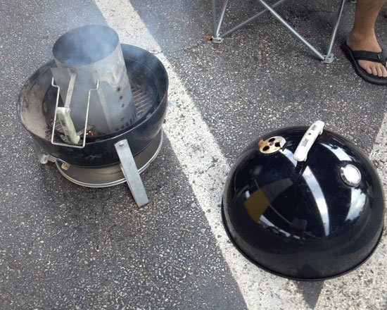 Using a WSM as a charcoal grill - Grilling24x7.com