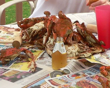 homemade ribs and blue steamed maryland crabs!