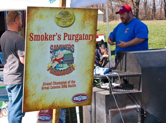 BBQ teams at the Kingsford Invitational - Smoker's Purgatory