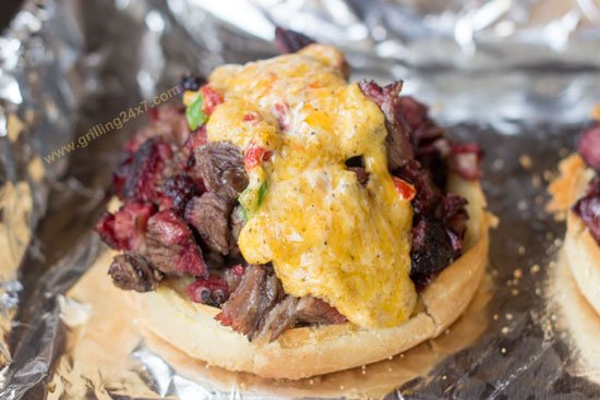 Beef Short Rib Sandwich with Melted Pimento Cheese - Grilling24x7.com