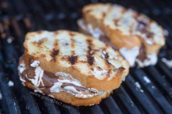 Grilled Dessert - Grilled Fluffernutter Panini