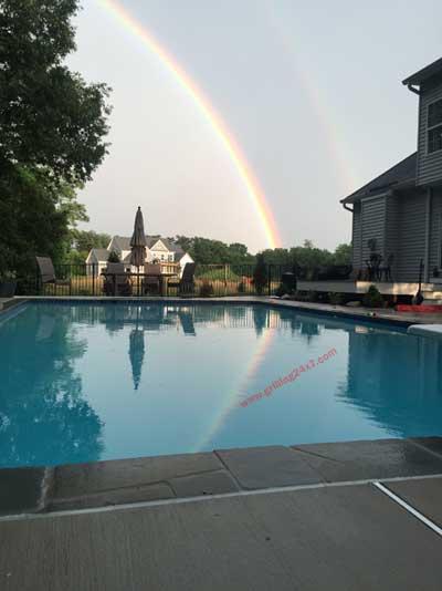 pool rainbow paradise