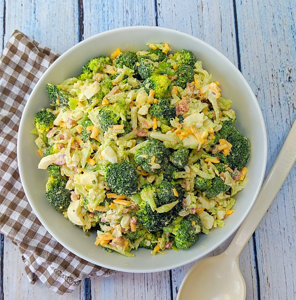 Broccoli Salad white BBQ sauce