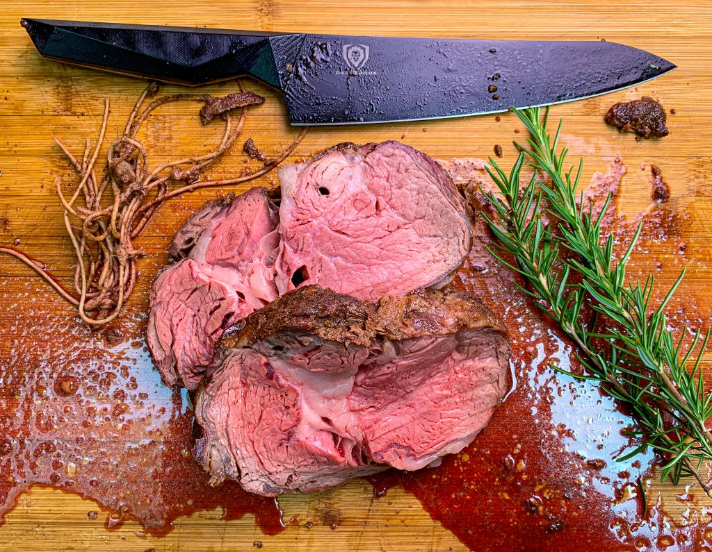 Sliced Prime Rib Roast Rotisserie