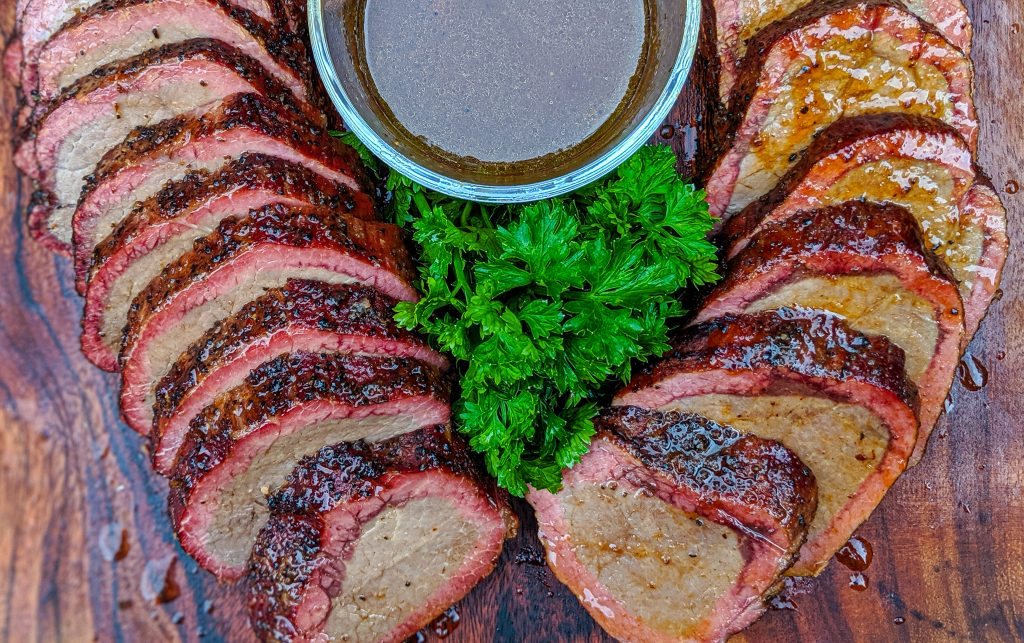 Smoked Eye Round w/ Beef Au Jus - Grilling 24x7