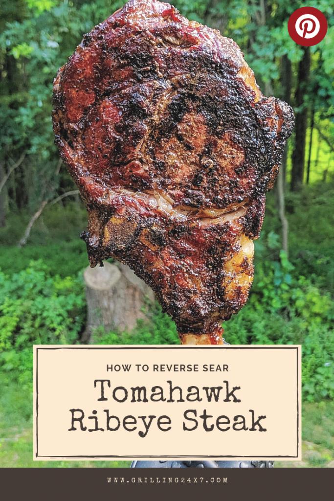 How to make reverse sear tomahawk ribeye steak